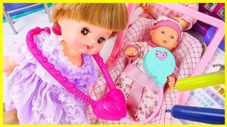 米露宝宝当医生扮家家游戏 亲子互动神奇医疗包玩具试玩 小猪佩奇 卡通动画 火影忍者