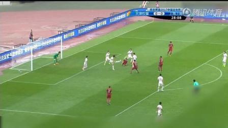 中超权健3-0战胜了上港。