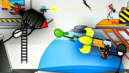 【屌德斯解说】 火柴人创意生存2 不仅获得了植物大战僵尸中的豌豆射手枪,还徒手接住火箭弹