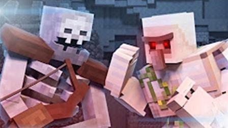 大海解说 我的世界Minecraft 保卫村民怪物塔防