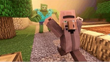 大海解说 我的世界Minecraft 保卫村庄激战僵尸大军