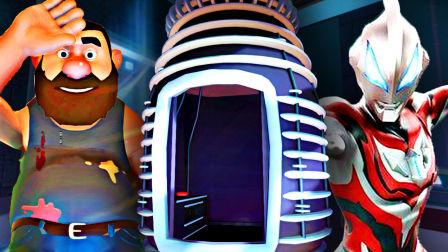 【屌德斯解说】 自杀伙计 大结局上篇 在实验室中发现捷德奥特曼里的传送电梯