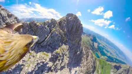 从鹰的视角看壮观的阿尔巴斯山