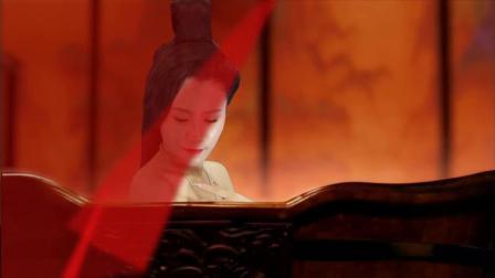 一首优美古筝曲配上传统大红色, 看美女演绎中国