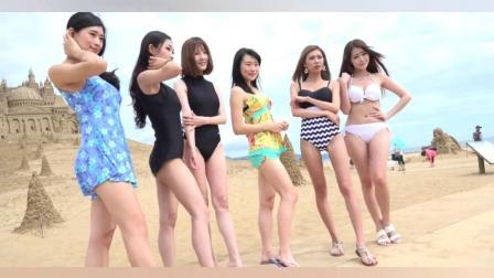 海边拍写真的比基尼嫩模, 羡慕她们的勇气