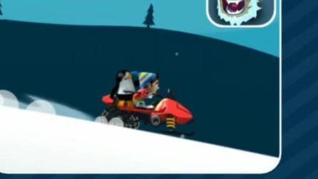 滑雪大冒险1骑雪怪 企鹅 新游戏试玩 笑笑小悠亲子益智游戏