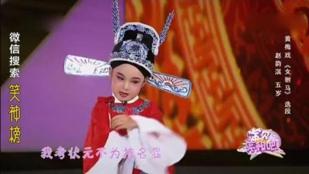 小戏骨黄梅戏女驸马选段(赵韵淇)