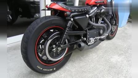 世界独一无二的声音! 纯正马蹄音哈雷883R摩托车