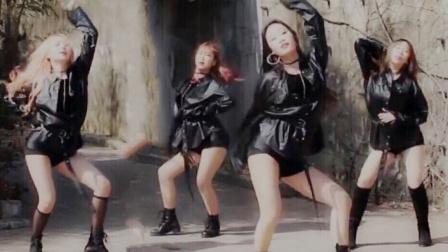 4人舞团可爱出道竹林群魔乱舞妖艳秀美腿