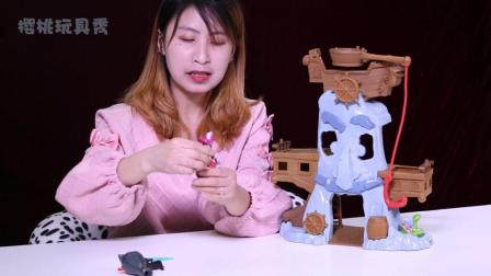 樱桃玩具秀: 杰克与梦幻岛海盗玩具系列之虎克船长冒险湾玩具视频