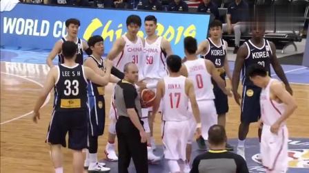 正直播中国vs韩国男篮: 双方大乱斗, 失误不断!