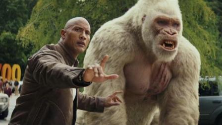 巨石強森攜手巨型金剛, 大戰哥斯拉與變異飛狼, 場面勁爆無法控制!