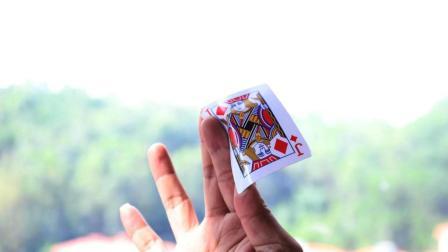 超酷回旋飞牌魔术教程, 把妹就靠这招了, 耍帅必学魔术!