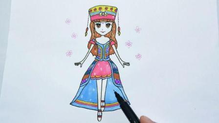 儿童简笔画叶罗丽仙子黑香菱的步骤图片