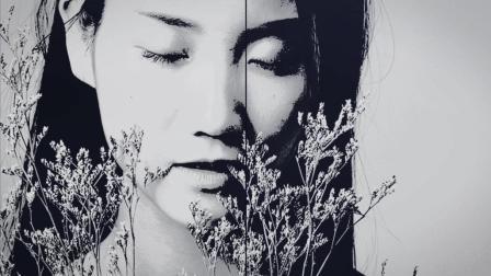 美女个性时尚黑白写真, 清纯唯美, 是否刹那间为