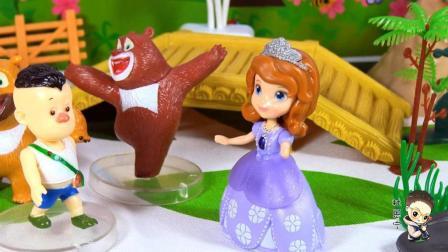 美女小公主化身仙女来帮助熊熊乐园里的光头强改变理想
