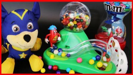 森贝儿家族玩可以踢球的糖果机儿童玩具