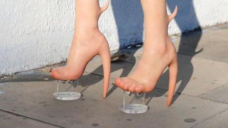像真人皮肤的高跟鞋
