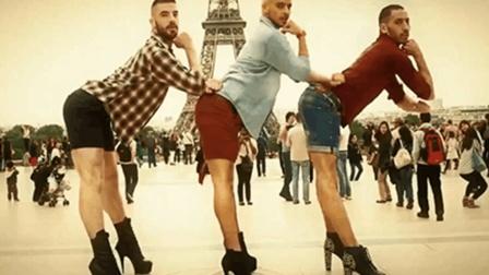 男人浪起来真可怕! 男老外穿高跟鞋大跳热舞, 简直辣眼睛!