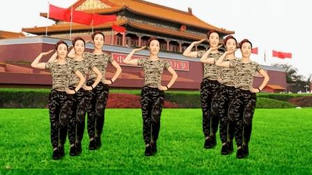 革命红歌广场舞《三大纪律八项注意》不忘初心 舞步精彩
