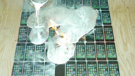 【探索频道】如果把融化了的铝水倒到50部iPhon