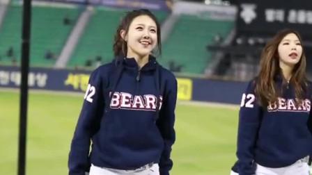 韩国棒球职业联赛: 啦啦队美女应场热舞, 气氛瞬