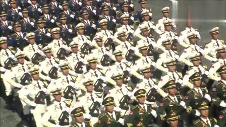 莫斯科红场阅兵 中国人民解放军三军仪仗队接受检阅