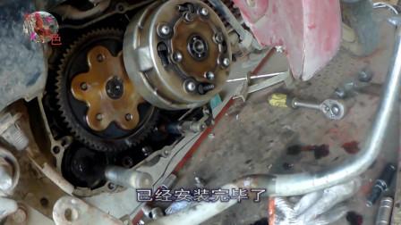 弯梁摩托车自动离合器片安装方法 这样才是正确的更换离合器片的方法