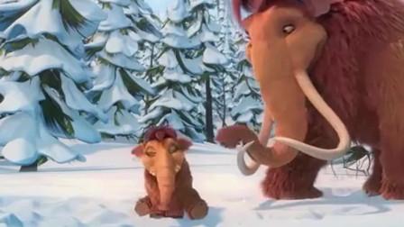 """冰川时代3:""""铁三角""""正在讨论孩子,一旁玩耍的桃子太可爱了"""