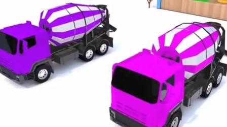 玩具总动员:颜料搅拌车帮助校车染颜色