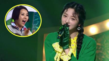 中国姑娘上韩国蒙面歌王,摘掉面具的那一刻,