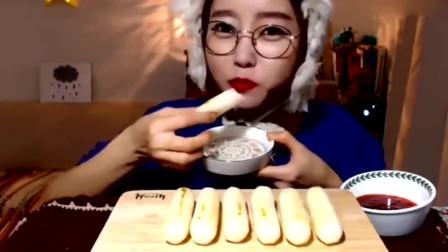 眼泪都快笑出来了 韩国美女吃播大胃王 我都佩服