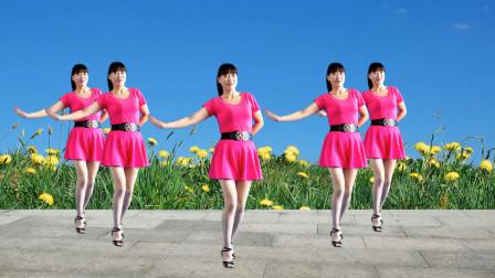 娱乐健身广场舞《思念的歌》舞步新颖优美 简单