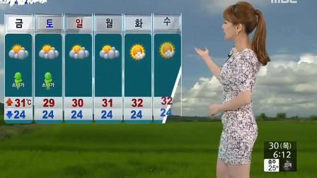 内容不够,身材来凑,韩国女主持为了收视率也