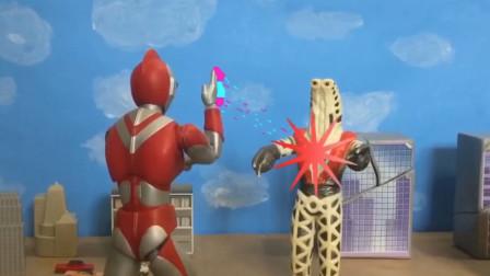 《爱迪奥特曼》自拍战斗特效玩具动画!