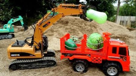 挖掘机、土方车玩具总动员