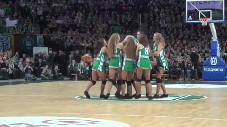 俄罗斯篮球拉拉队,穿短裙跳劲舞,不愧是战斗