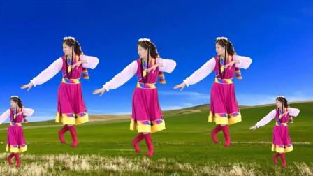 气质美女广场舞《吉祥安康》藏族风格,舞姿新