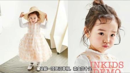 董璇女儿小酒窝拍写真,换三种发型十分可爱,