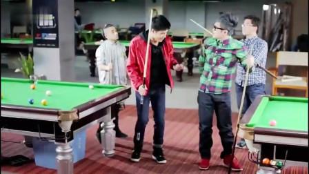 搞笑视频:大鹏和朋友打桌球,接下来的事让大