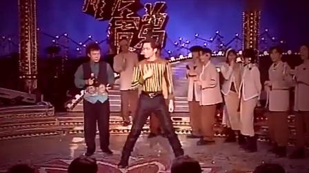 20年前的钟汉良更加的青涩帅气,现场《OREA》劲