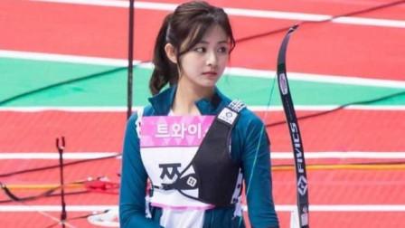 韩国美女参加射箭比赛,各种卖萌、撒娇,女神