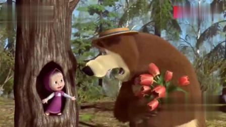 亲子搞笑动画:小萝莉一眼看到,熊熊偷偷出门