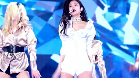 4K超清画质,韩国美女Jennie,绝美演唱会现场,青