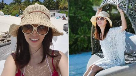 林心如马尔代夫度假 晒比基尼美照身材好