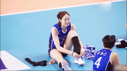 爱运动的小姐姐最美!韩国女排第一美女赛前热