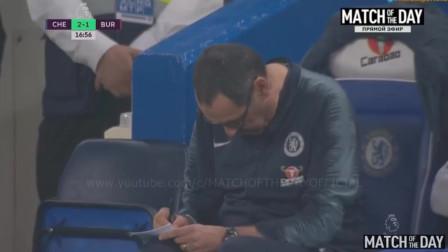 英超集锦 伊瓜因破门切尔西2-2伯恩利