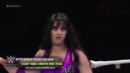 WWE:美女下手不知轻重,女对手被打的站不起来