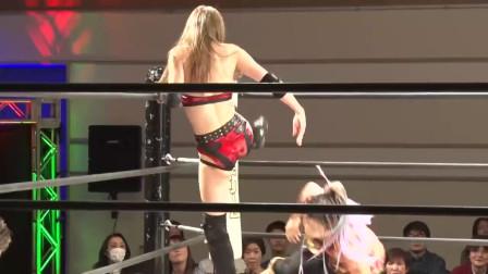 日本格斗大赛:美女对上泰坦丝毫不落下风完全