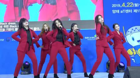 长腿女神团CLC热舞,唱跳《BLACK DRESS》,帅气圈粉